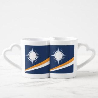 MARSHALL ISLANDS FLAG COUPLES' COFFEE MUG SET