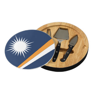 MARSHALL ISLANDS FLAG ROUND CHEESE BOARD