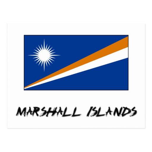 Marshall Islands Flag Postcard