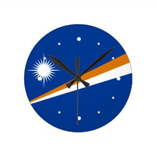 Marshall Islands Flag Round Clock