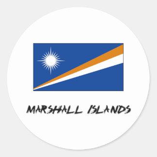 Marshall Islands Flag Classic Round Sticker