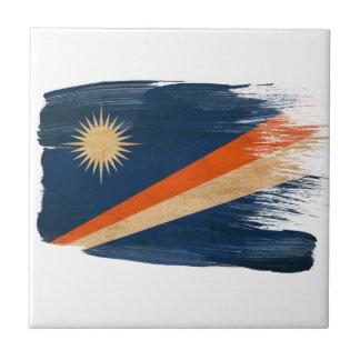 Marshall Islands Flag Small Square Tile