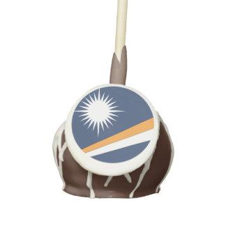 MARSHALL ISLANDS FLAG CAKE POPS