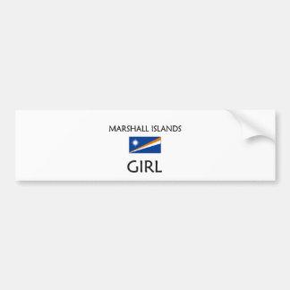 MARSHALL ISLANDS GIRL BUMPER STICKERS