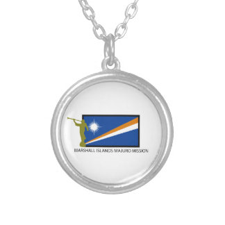 MARSHALL ISLANDS MAJURO MISSION LDS CTR ROUND PENDANT NECKLACE