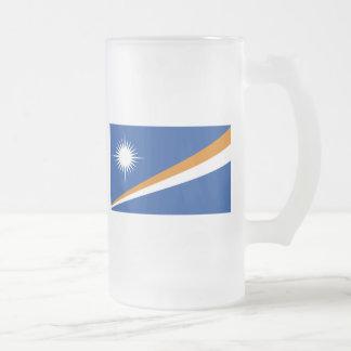 marshall islands 16 oz frosted glass beer mug