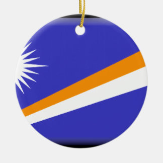 Marshall Islands Double-Sided Ceramic Round Christmas Ornament