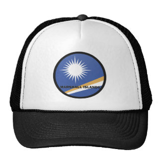 Marshall Islands Roundel quality Flag Mesh Hats