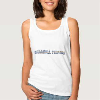 Marshall Islands Typography Flag Colors Tank Top