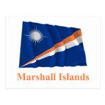 Marshall Islands Waving Flag with Name Postcard
