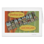 Marshall, Michigan - Large Letter Scenes Greeting Card