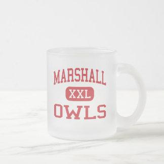 Marshall - Owls - High School - Marshall Missouri Frosted Glass Coffee Mug