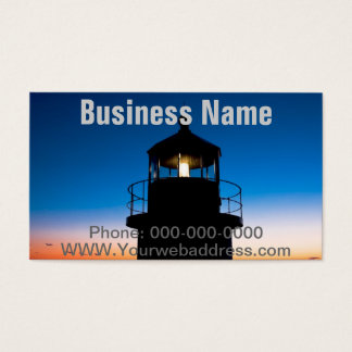 Marshall Point Lighthouse At Sunset In Maine Business Card