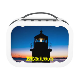 Marshall Point Lighthouse At Sunset In Maine Lunch Box