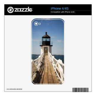 Marshall Point Lighthouse Decals For iPhone 4