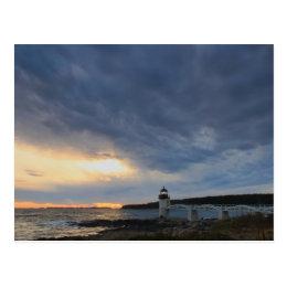 Marshall Point Lighthouse Evening Sky Postcard