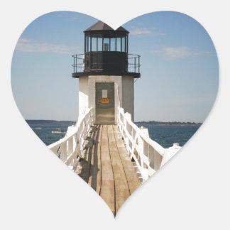 Marshall Point Lighthouse Heart Sticker