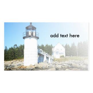 marshall Point Lighthouse in Maine Double-Sided Standard Business Cards (Pack Of 100)