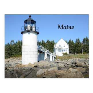 Marshall Point lighthouse in Maine Postcard