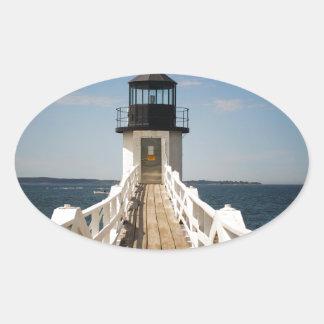 Marshall Point Lighthouse Oval Sticker