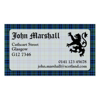 Marshall Tartan Business Card