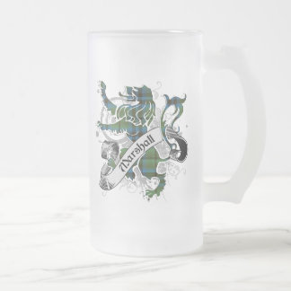 Marshall Tartan Lion Frosted Glass Beer Mug
