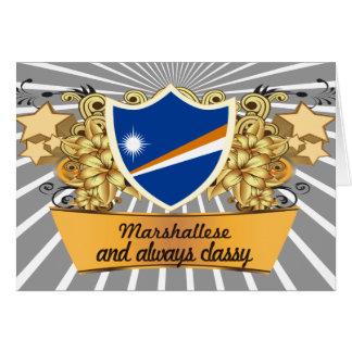 Marshallese con clase tarjeta de felicitación