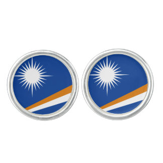 Marshallese flag Cufflinks