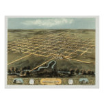 Marshalltown, IA Panoramic Map - 1868 Poster