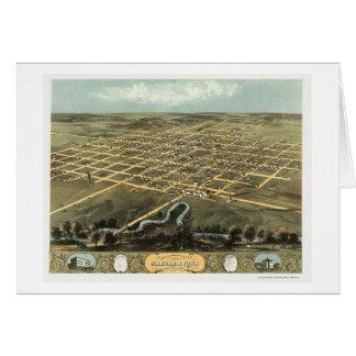 Marshalltown, mapa panorámico de IA - 1868 Tarjeta De Felicitación