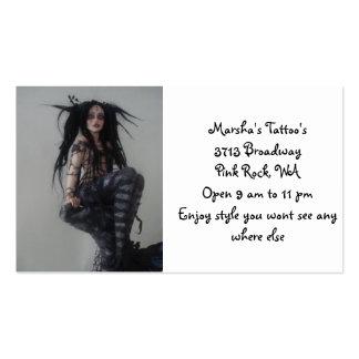 Marsha's Tattoo's Business Card