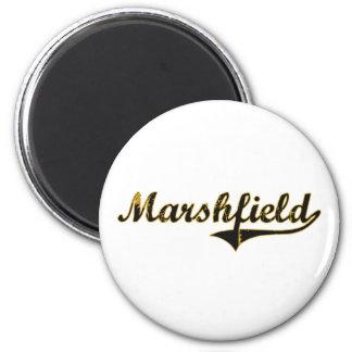 Marshfield Missouri Classic Design 2 Inch Round Magnet