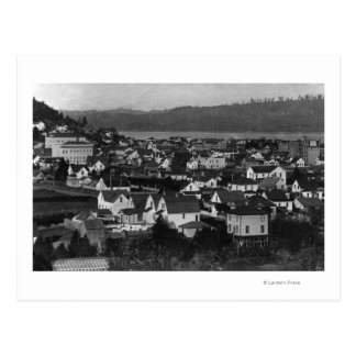 Marshfield, Oregon Town View and Water Photograp Postcard