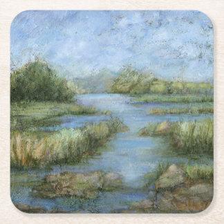 Marshland I Square Paper Coaster