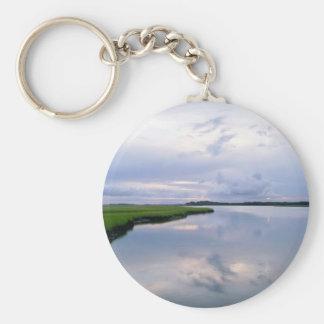 Marshland Sunset Keychain