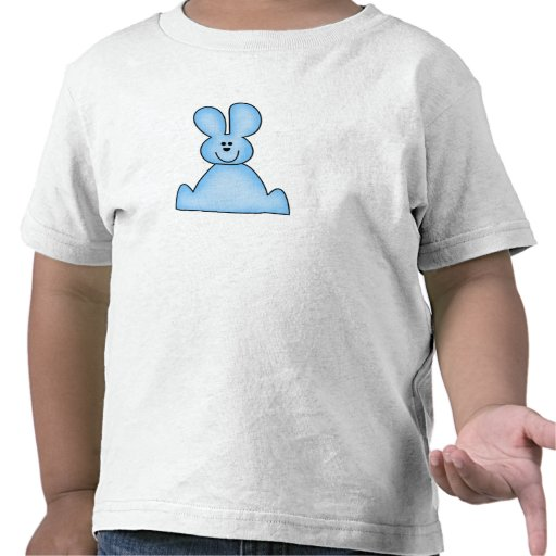 Marshmallow Bunny (blue) Tshirts and Gifts