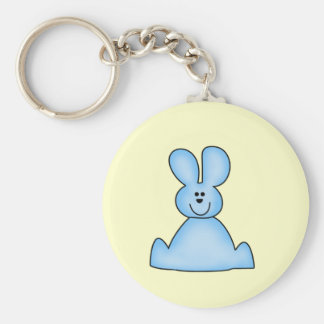 Marshmallow Bunny (blue) Tshirts and Gifts Keychain