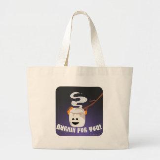 Marshmallow Burnin For You Large Tote Bag