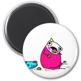 Marshmallow Cake 2 Inch Round Magnet