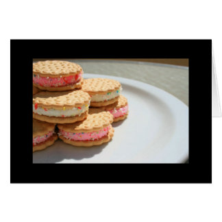 Marshmallow Cookies on a Plate Greeting Card and N