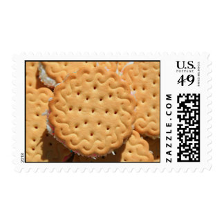 Marshmallow Cookies on a Plate Postage
