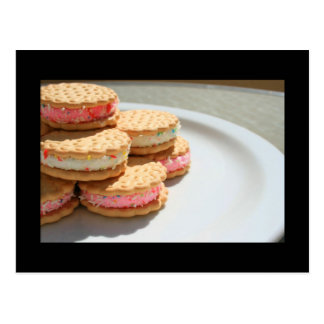 Marshmallow Cookies on a Plate Postcard