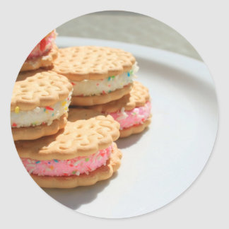 Marshmallow Cookies on a Plate Sticker