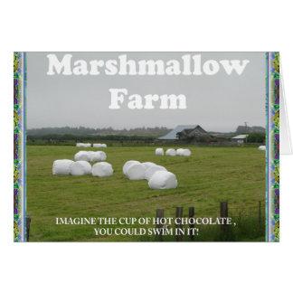 Marshmallow Farm. notecard