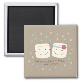 Marshmallow Friends and Chocolate Magnet