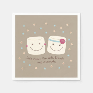 Marshmallow Friends and Chocolate Napkins