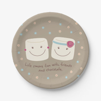 Marshmallow Friends and Chocolate Paper Plates
