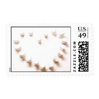Marshmallow heart postage