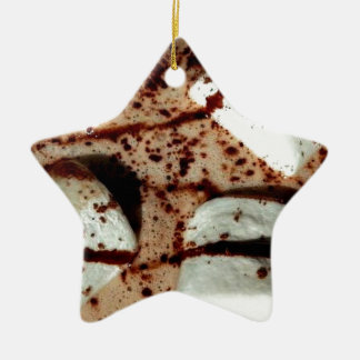 Marshmallow in hot drink ceramic ornament