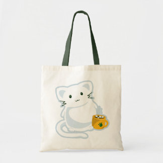Marshmallow Kitn Canvas Bag